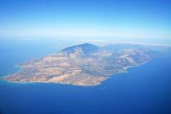 海岛zakynthos 库存照片