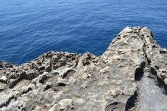 海岩石,马耳他 库存照片