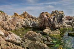黑海岩石 库存图片