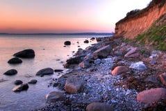 海岸丹麦 免版税库存照片