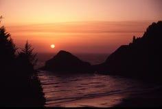 海岸俄勒冈纵向 库存图片
