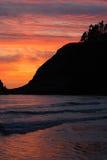海岸俄勒冈纵向 免版税库存照片