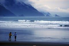 海岸俄勒冈过帐风暴 免版税库存图片