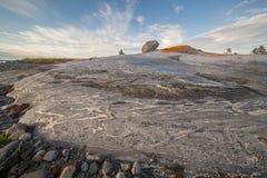 海岸偏僻的岩石石头 免版税库存照片
