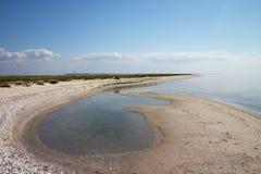 海岸偏僻的海运夏天 免版税库存照片