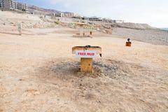 海岸停止的自由泥海运 库存照片
