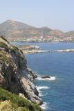 海岸克利特海岛 免版税库存照片
