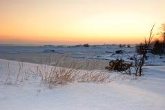 海岸冬天 免版税库存照片
