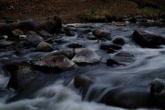 海岸冰横向河水冬天 免版税图库摄影