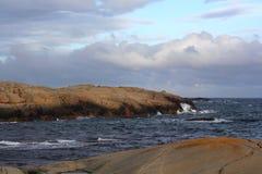 海岸北海在挪威 免版税图库摄影