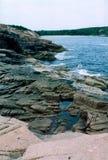 海岸北的缅因 免版税库存图片
