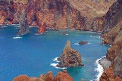 海岸北部东部的马德拉岛 免版税库存照片