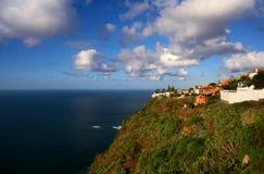 海岸北部tenerife视图 图库摄影