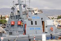 海岸卫队小船 库存图片