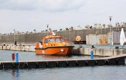 海岸卫队小船 免版税库存图片