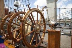 海岸卫队老鹰的舵 库存照片