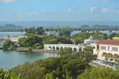 海岸卫队船坞,圣胡安,波多黎各 免版税库存照片