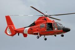 海岸卫队直升机 图库摄影