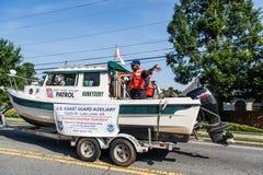 海岸卫队Auxillary小船 库存照片