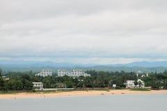 海岸印第安马尔代夫海洋 图阿马西纳,马达加斯加 免版税库存照片