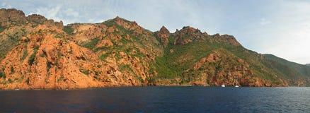 海岸可西嘉岛法国 免版税库存照片