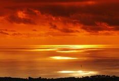 海岸可西嘉岛 库存照片