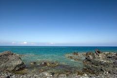 海岸喂火山海岛的kona 库存图片