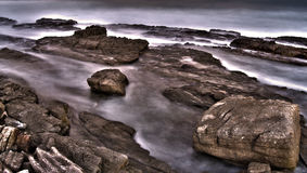 海岸喜怒无常的南部 库存图片