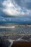 海岸在不列塔尼法国 免版税图库摄影