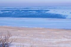 海岸在冬天 图库摄影