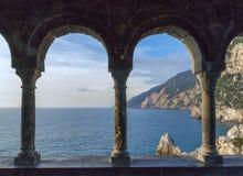 海岸在利古里亚 免版税库存图片