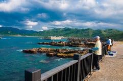 海岸在基隆 免版税库存照片
