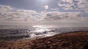 海岸在奥阿胡岛,夏威夷 库存照片