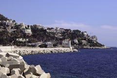 海岸在尼斯 免版税图库摄影