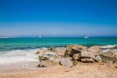 海岸在巴达洛纳 免版税图库摄影