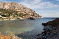 海岸在希腊 免版税库存图片