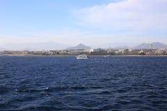 海岸在沙姆沙伊赫 免版税库存图片