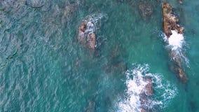 海岸在猴子附近海岛的越南  股票视频