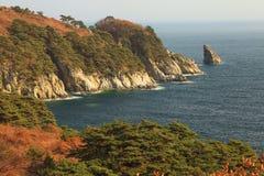 海岸在秋天 免版税图库摄影