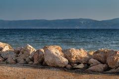 海岸在Eretria,希腊 免版税库存图片