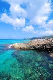海岸在Ibiza海岛 库存图片