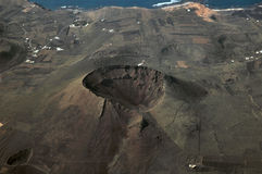 海岸域熔岩火山 免版税库存照片
