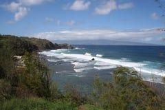 海岸夏威夷北部的毛伊 库存图片