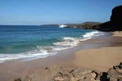 海岸夏威夷Molokai 免版税库存图片
