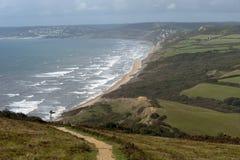 海岸多西特英国 免版税图库摄影