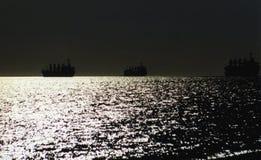 海岸夜间 库存图片