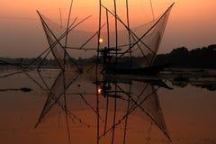 海岸夜间渔夫湖 图库摄影