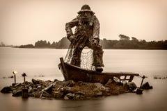 海岸夜间渔夫湖 库存图片