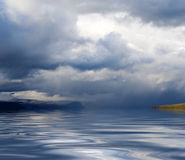 海岸天空水 库存图片