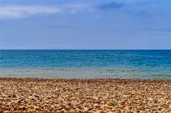 海岸天际 库存图片